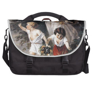 The Guardian Angel and Children, Vintage Painting. Laptop Bag