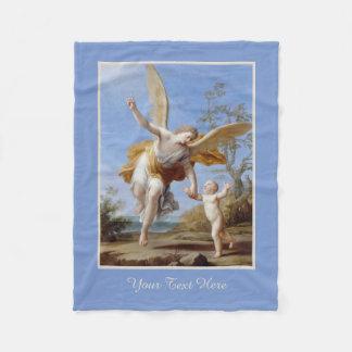 """The Guardian Angel""  custom fleece blanket"