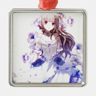 The Guardian Of The Siberian Iris Metal Ornament