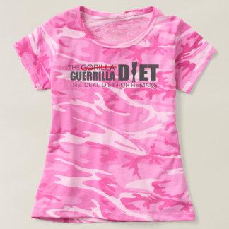 The Guerrilla Diet Women's Pink Camouflage T-Shirt