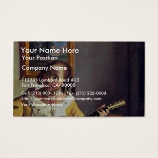 The Guitar Player, By Vermeer Van Delft Jan Business Card
