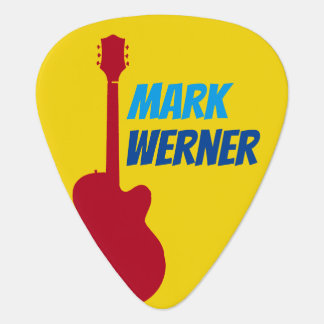 the guitarist name on yellow guitar pick