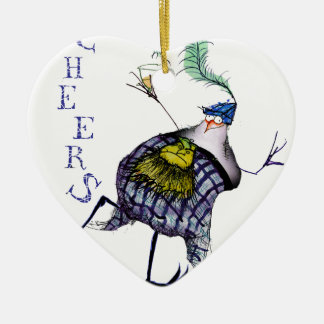 the haggis dance ceramic ornament