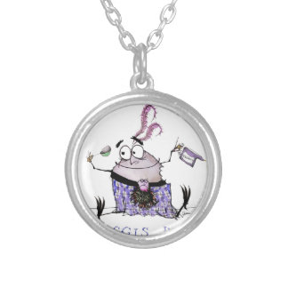 the haggis diet silver plated necklace
