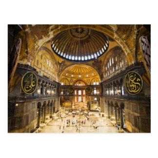 The Hagia Sophia Interior in Istanbul Postcard