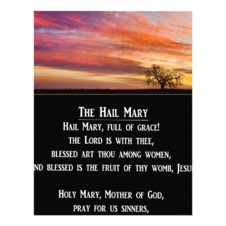 The Hail Mary Prayer Personalized Letterhead