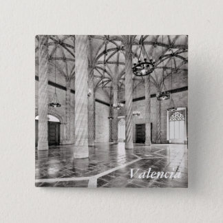 The Hall of Columns in Valencia 2 Inch Square Button