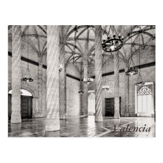 The Hall of Columns in Valencia Postcard