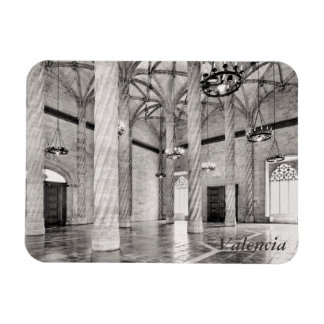 The Hall of Columns in Valencia Rectangular Photo Magnet