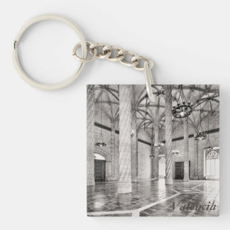 The Hall of Columns in Valencia Single-Sided Square Acrylic Keychain