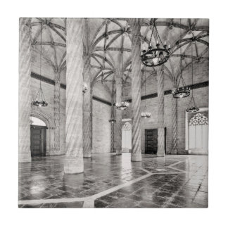 The Hall of Columns in Valencia Tile