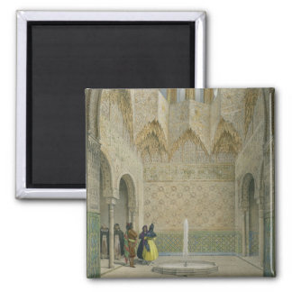 The Hall of the Abencerrages, the Alhambra, Granad Square Magnet