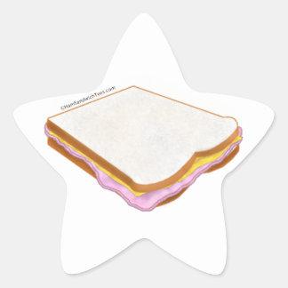 The Ham Sandwich Star Sticker