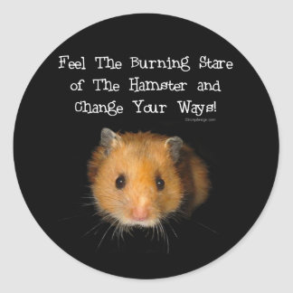 The Hamster Round Stickers