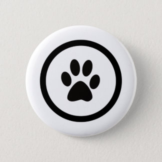 The hand crest of cat 2 inch round button