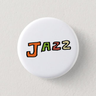 "The hand drawing letter "" jazz "" 1 inch round button"