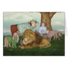 The Hand Knitted Peaceable Kingdom Card