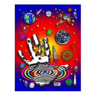 The Hand of Humanity in Space II Postcard