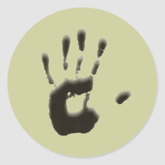 The Hand Print Round Sticker