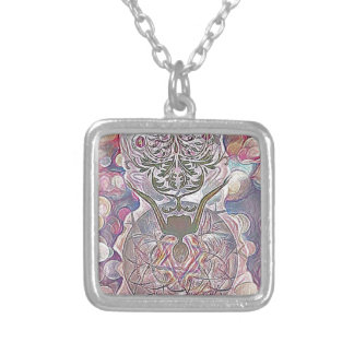 The Hanged Man Silver Plated Necklace