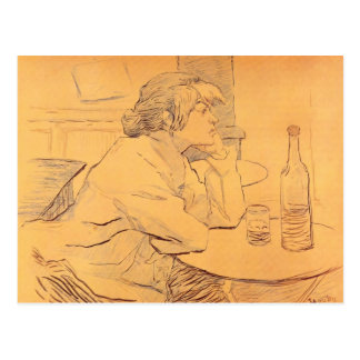 The Hangover by Toulouse-Lautrec Postcard
