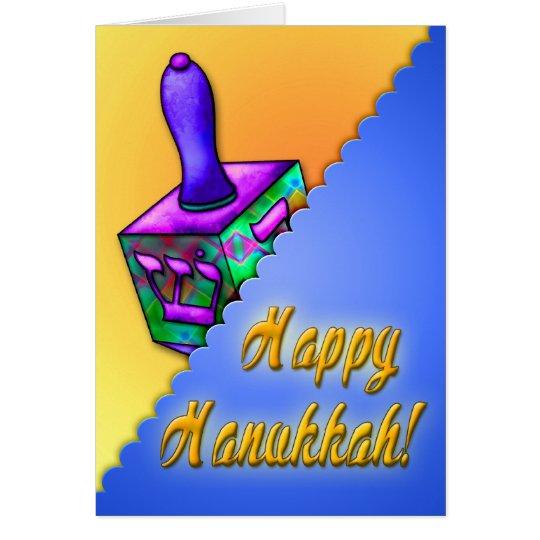 The Hanukkah Dreidel (History of Dreidel Inside) Card