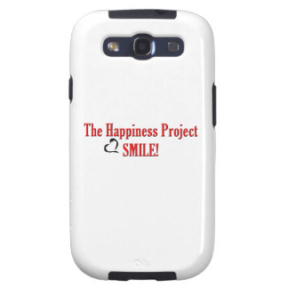 The Happiness Project: Smile! Samsung Galaxy S3 Case