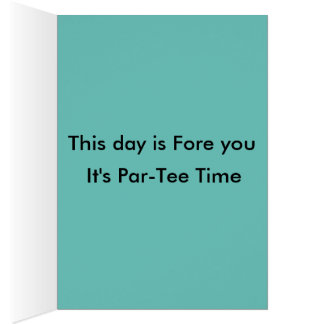 The Happy Birdie Day disc golf birthday card