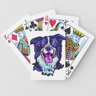 The happy Border Collie Love of My Life Bicycle Playing Cards