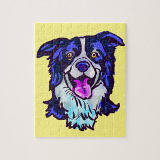 The happy Border Collie Love of My Life Jigsaw Puzzle