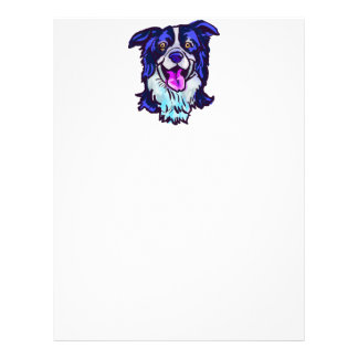 The happy Border Collie Love of My Life Letterhead