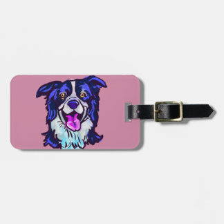 The happy Border Collie Love of My Life Luggage Tag