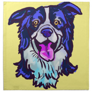 The happy Border Collie Love of My Life Napkin