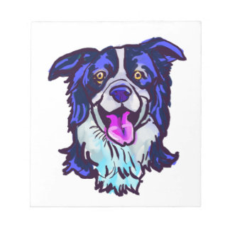 The happy Border Collie Love of My Life Notepad