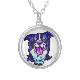 The happy Border Collie Love of My Life Silver Plated Necklace