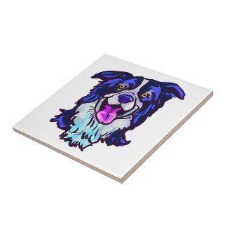 The happy Border Collie Love of My Life Tile