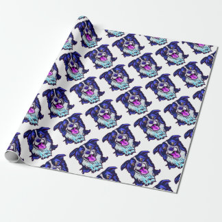The happy Border Collie Love of My Life Wrapping Paper