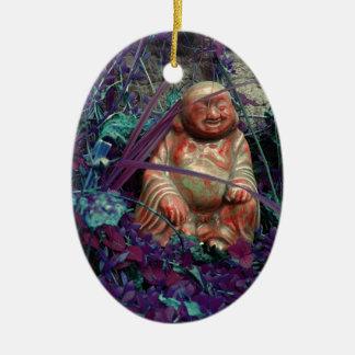 the happy buddah ceramic ornament