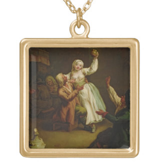 The Happy Couple Gold Plated Necklace
