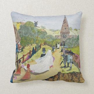 The Happy Couple Throw Pillow
