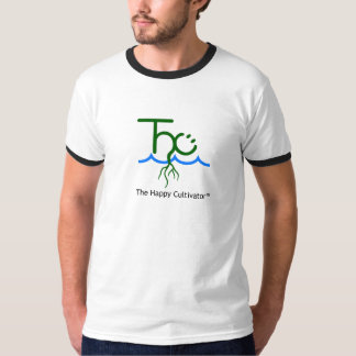 The Happy Cultivator™ logo ringer t-shirt