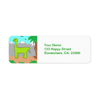 The Happy Dinosaur Return Address Label