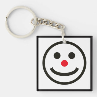 The Happy Face Double-Sided Square Acrylic Keychain