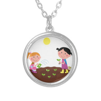 The happy garden spring Kids Silver Plated Necklace