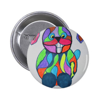 The Happy Hare 2 Inch Round Button