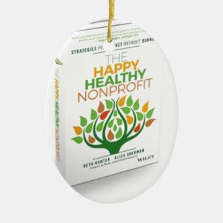The Happy, Healthy Nonprofit 3D Cover Ceramic Oval Ornament