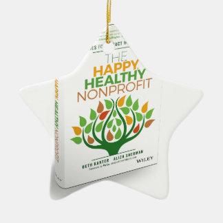 The Happy, Healthy Nonprofit 3D Cover Ceramic Star Ornament
