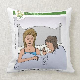 The Happy, Healthy Nonprofit Cartoon Throw Pillows