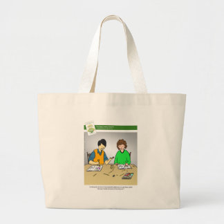 The Happy, Healthy Nonprofit Cartoon Tote Bags