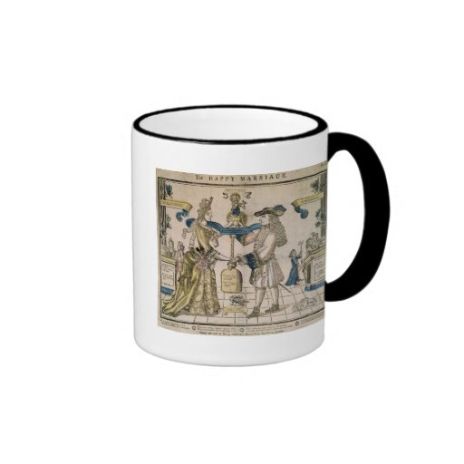 The Happy Marriage (stencil coloured woodcut) Coffee Mugs